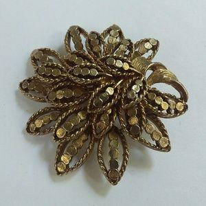 Vintage Capri Gold Tone Brooch